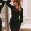clássico vestido preto que se desmonta, saia preta, blusa preta de manga balão