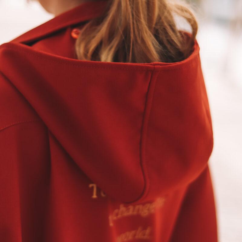 Fearless - do boxe para a rua! casaco oversize, capa para a chuva, casaco tijolo , capa de boxe