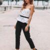 KIND - Calças pretas de cintura alta