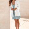 Blazer branco elegante e feminino